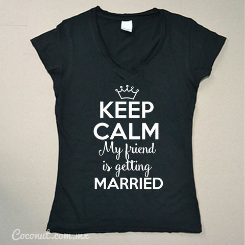 "Playera Dama ""Keep calm..."" Negra"