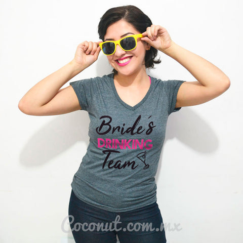 "Blusa ""Bride´s drinking team"""