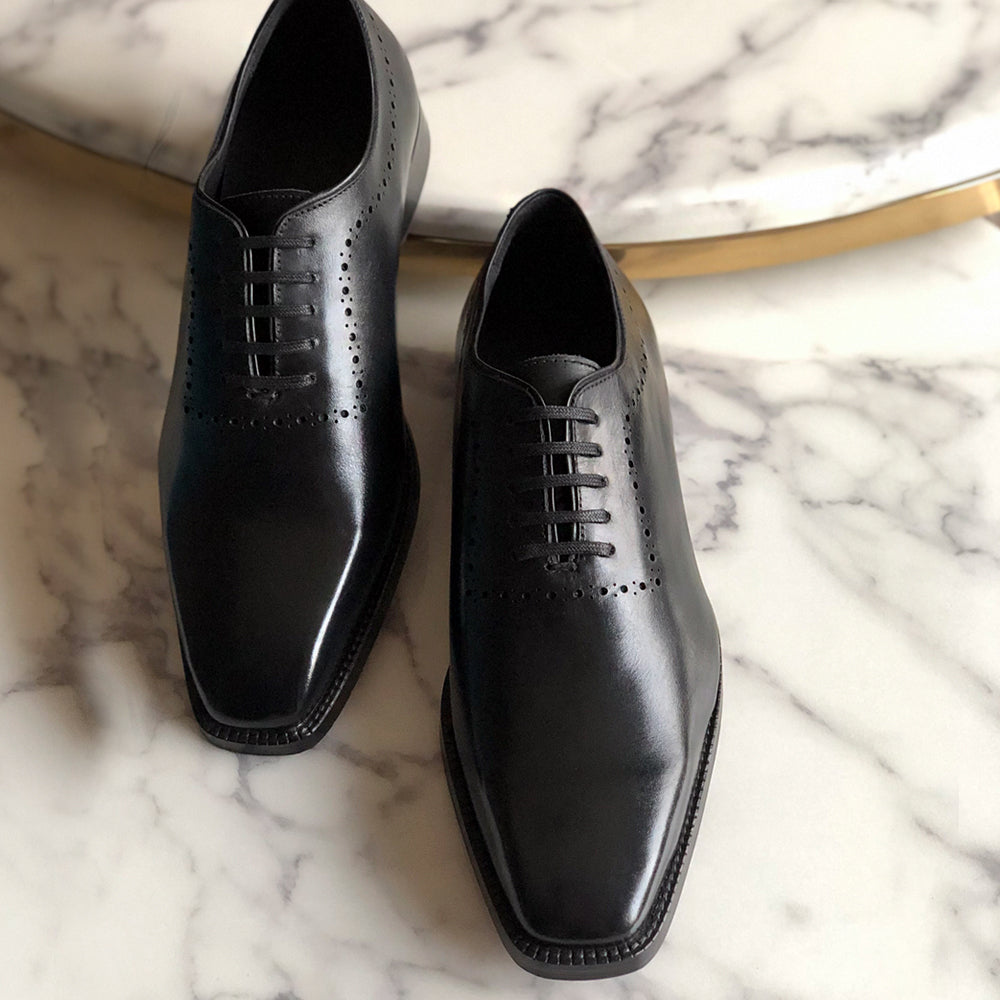 pelle santino - wholecut oxfords black leather