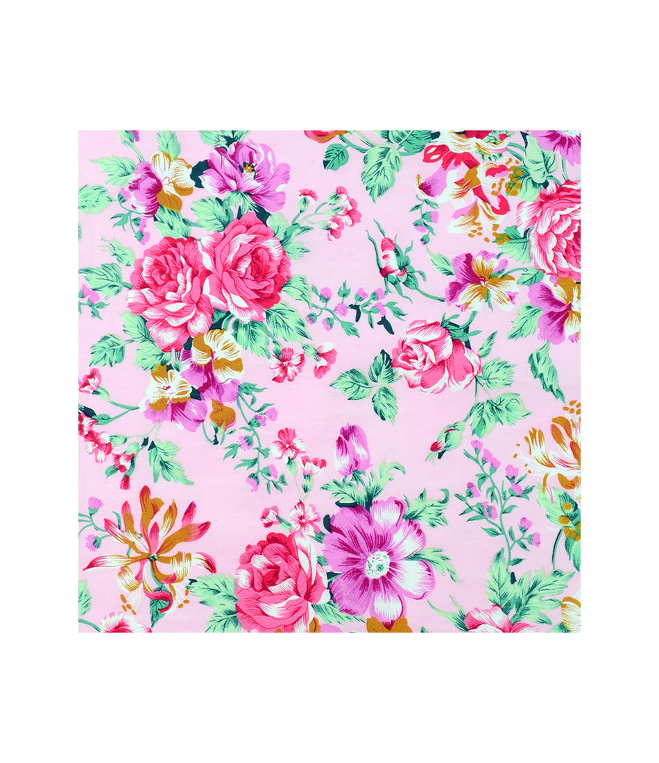 the dapper man - Venetian Pink Floral  Pocket Square