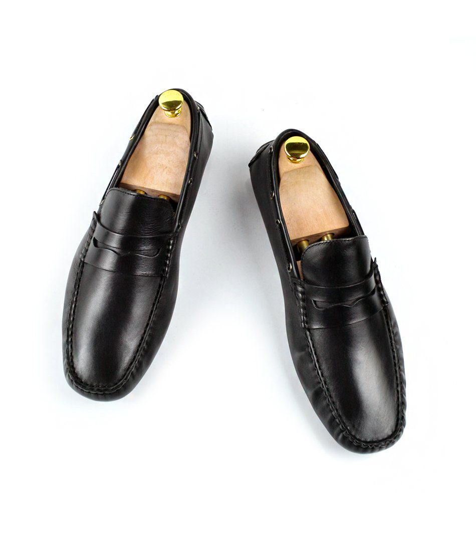 Penny Driving Loafer - Black - The Dapper Man