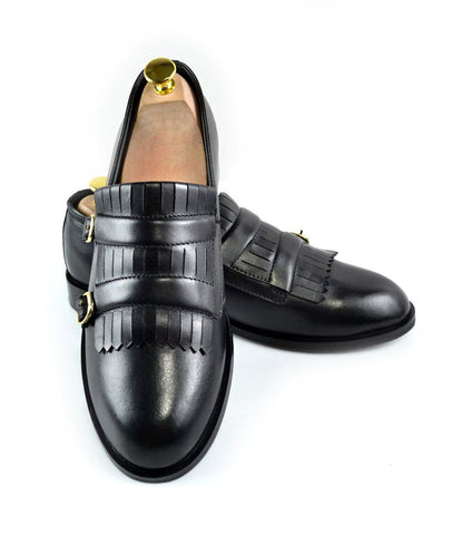 Black Double Buckle Loafers - The Dapper Man
