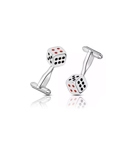 Silver Jackpot Cufflinks - The Dapper Man