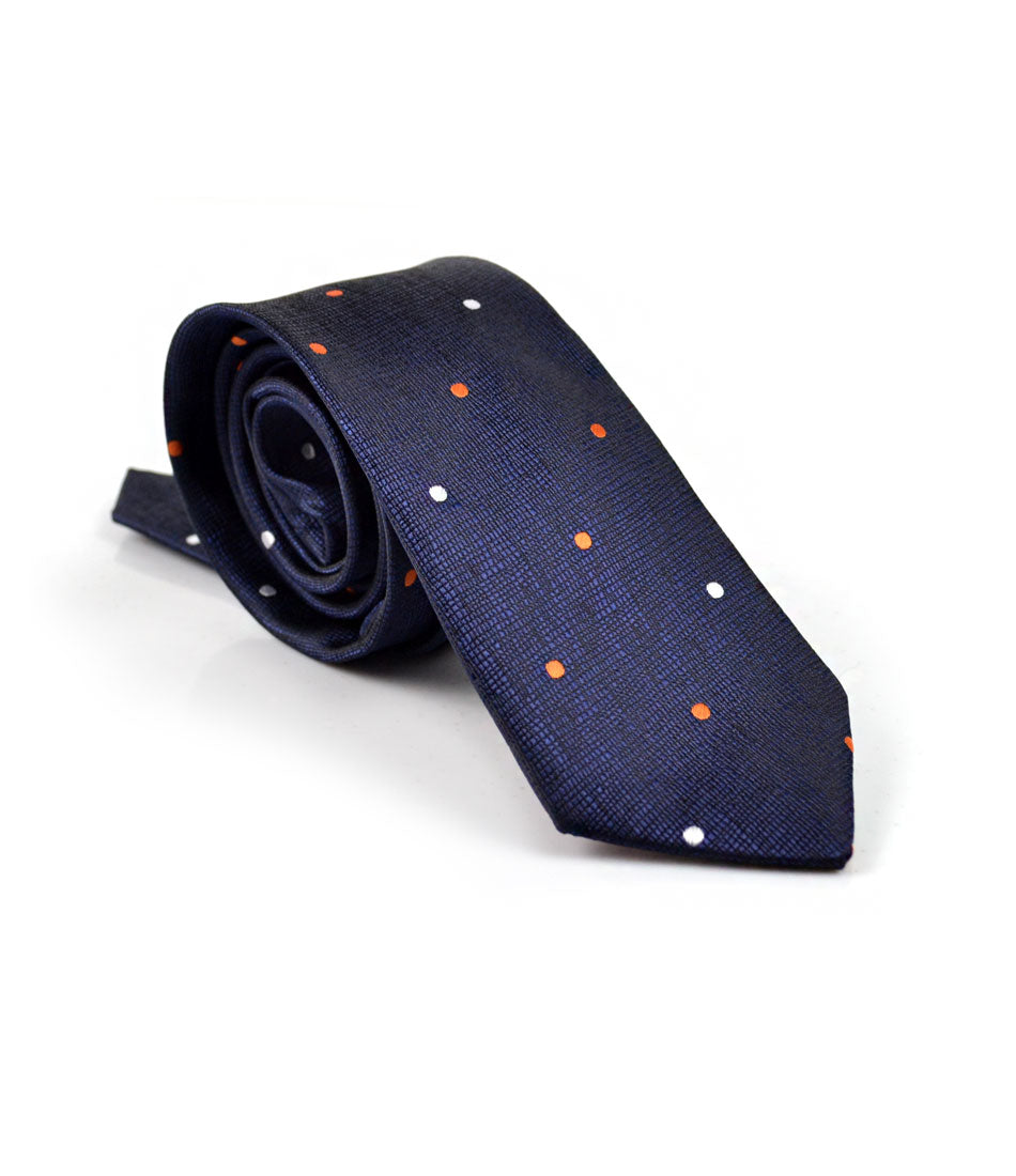 Midnight Blue Dotted Neck Tie - The Dapper Man