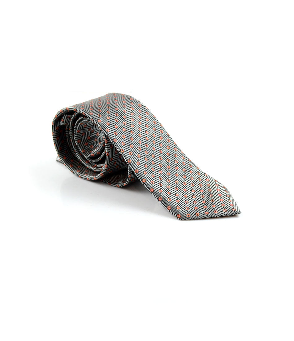 the dapper man - Silver & Black Herringbone