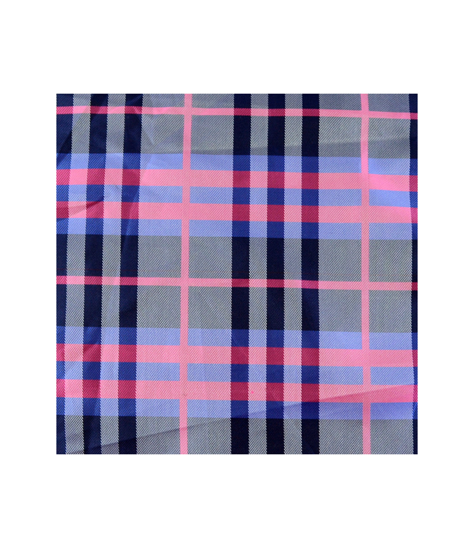 the dapper man - Royal Chequered Pink & Blue Pocket Square