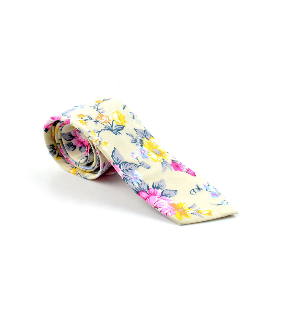 the dapper man - Scotch Mist Floral Neck Tie