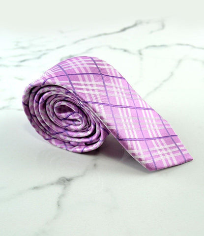 the dapper man - Pink Chequered Neck Tie