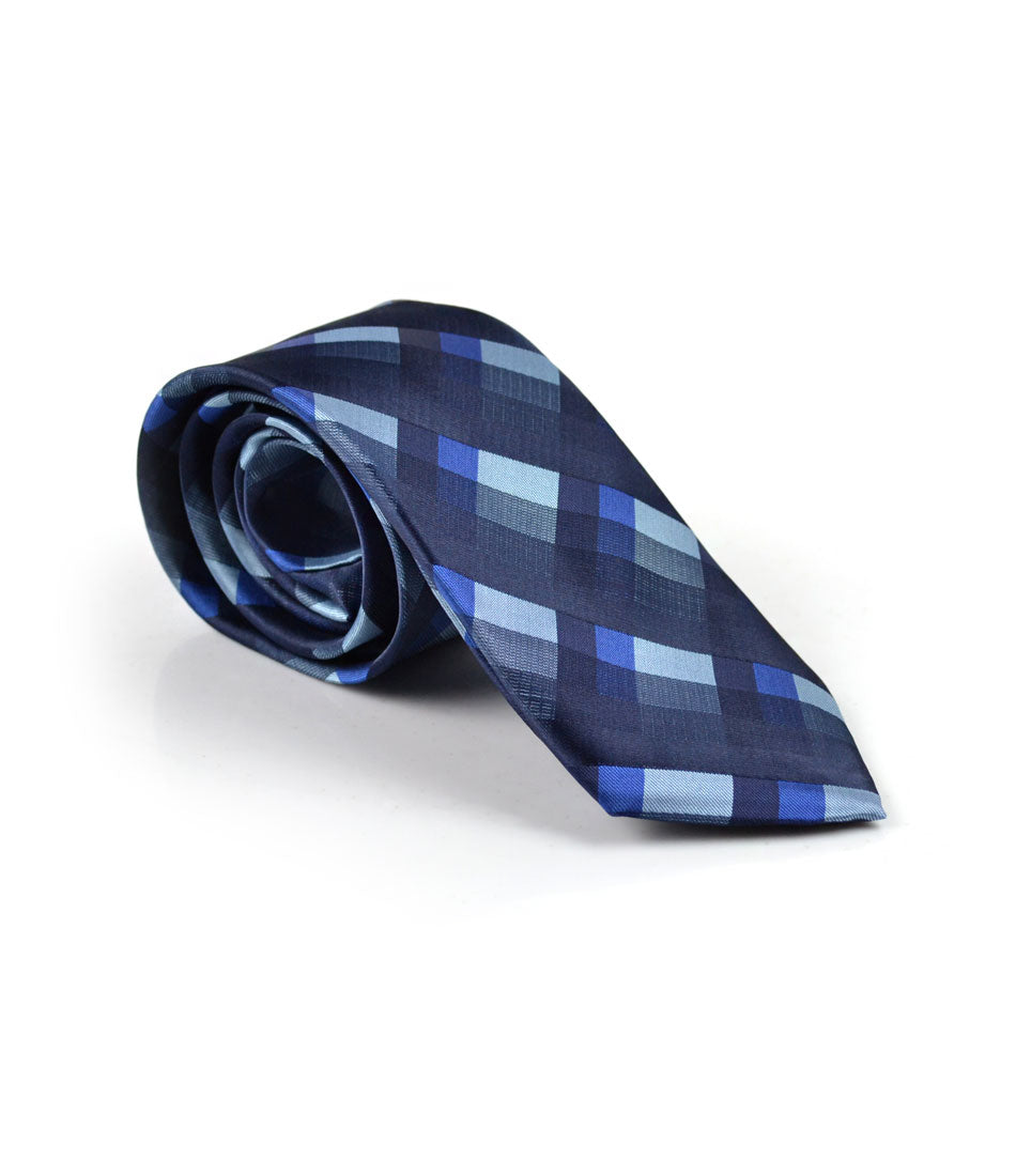 Hues of Blue Chequered Neck Tie - The Dapper Man