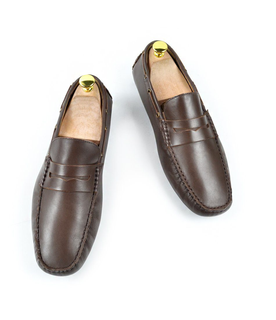Penny Driving Loafer - Brown - The Dapper Man
