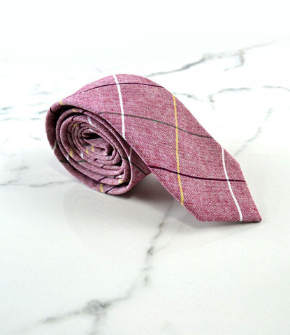 The dapper man - Rouge Pink Big Chequered Neck Tie