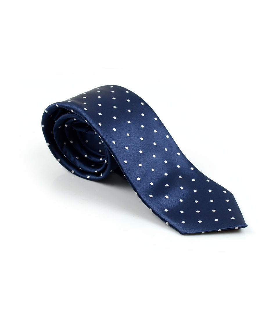 the dapper man - Francis Blue Polka Neck Tie
