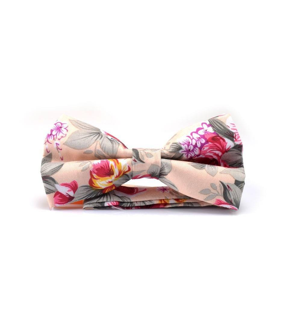 Fawn Floral Bow Tie - The Dapper Man