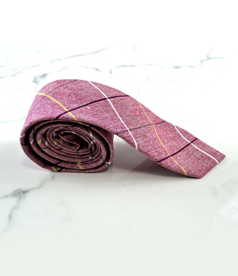 Rouge Pink Big Chequered Neck Tie