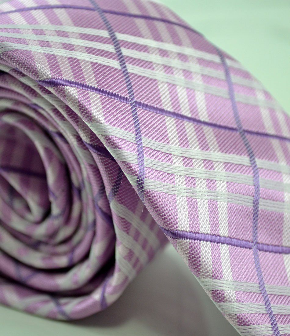 Pink Chequered Neck Tie - The Dapper Man