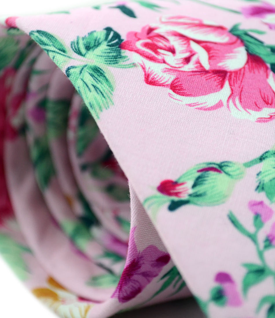the dapper man - Venetian Pink Floral Neck Tie