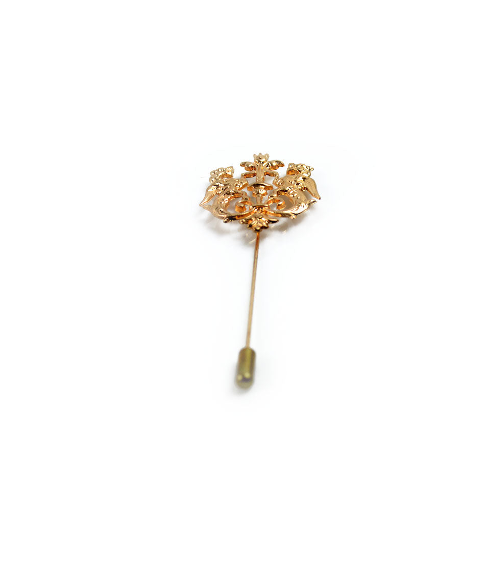 the dapper man -Royal Golden Lapel Pin