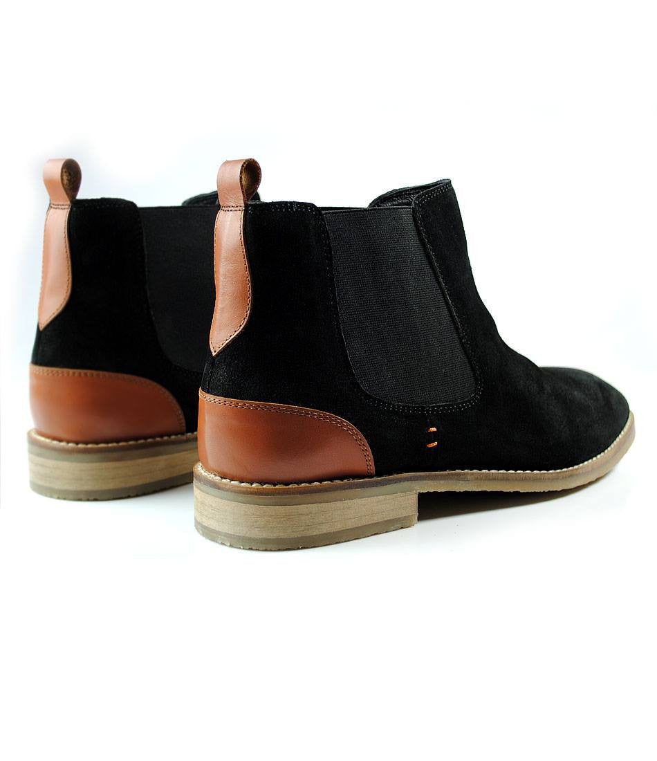 Black Suede Chelsea Boot - The Dapper Man