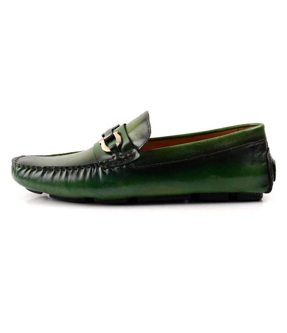 pelle santino -Bit Driving Loafer - Green