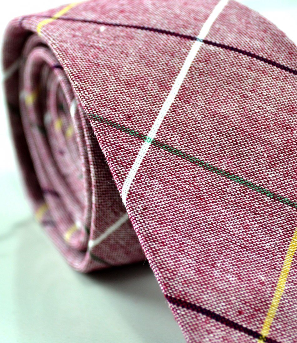 Rouge Pink Big Chequered Neck Tie - The Dapper Man