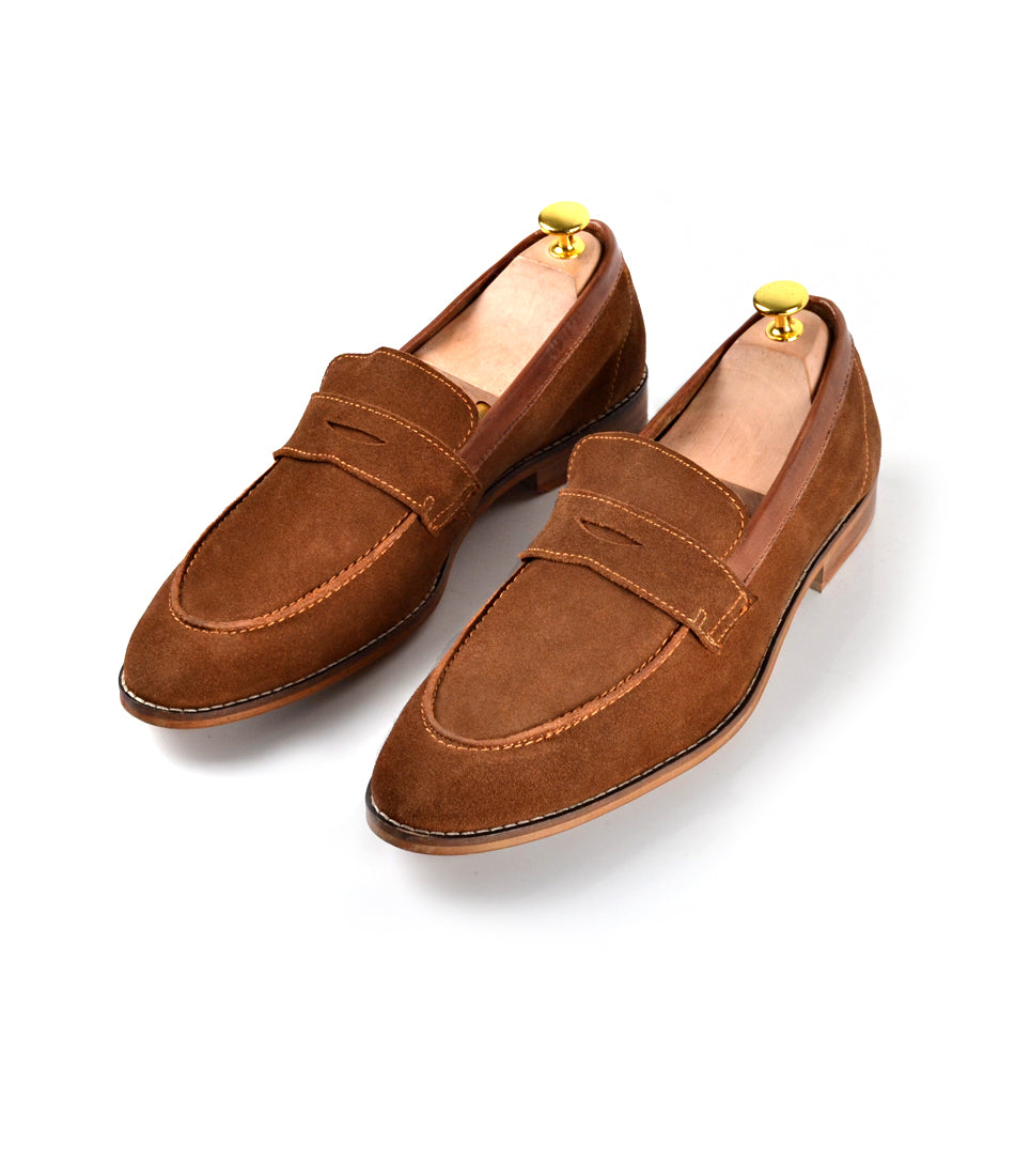 Camel Penny Loafers - Ultra-Flex - The Dapper Man