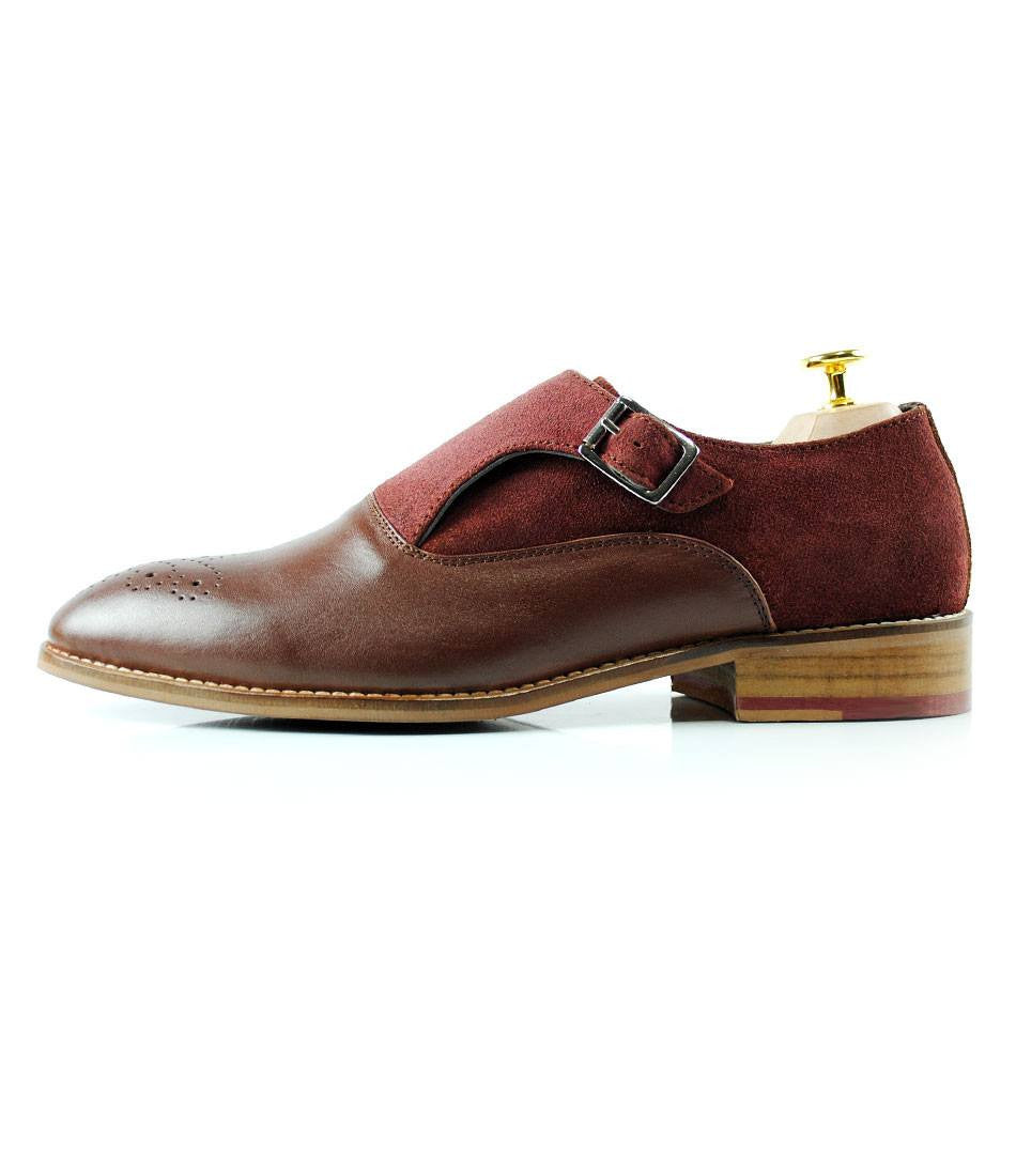 Oxblood Combination Single Monks - The Dapper Man