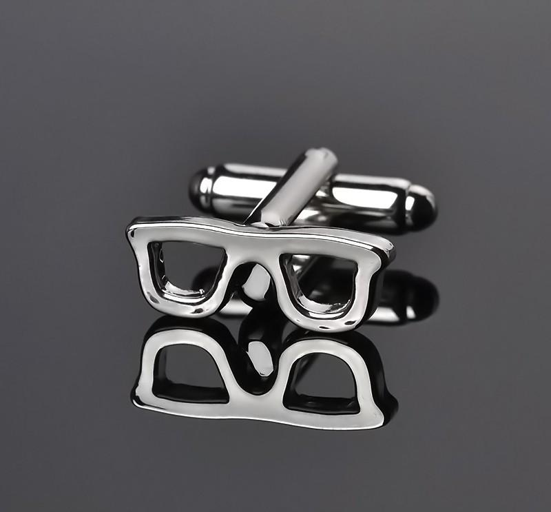 Silver Retro Glasses Cufflinks - The Dapper Man