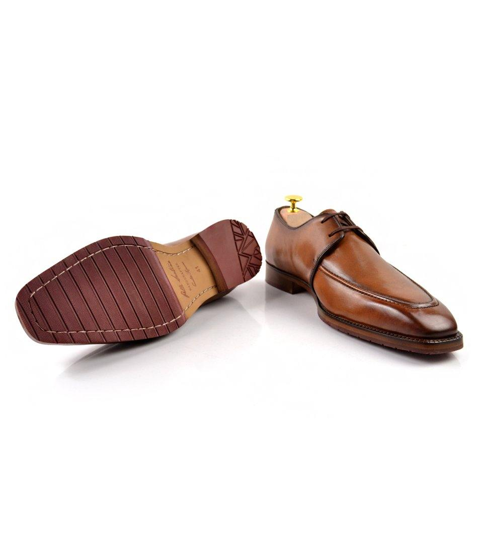 Apron Toe Derby - Tan - The Dapper Man