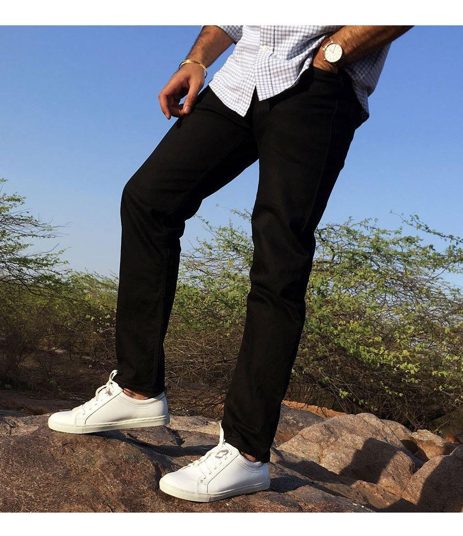 All White Leather Low-top Sneakers - The Dapper Man