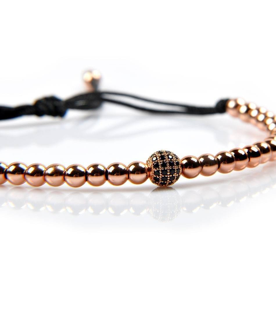 Rose Gold CZ Charm Bracelet - The Dapper Man