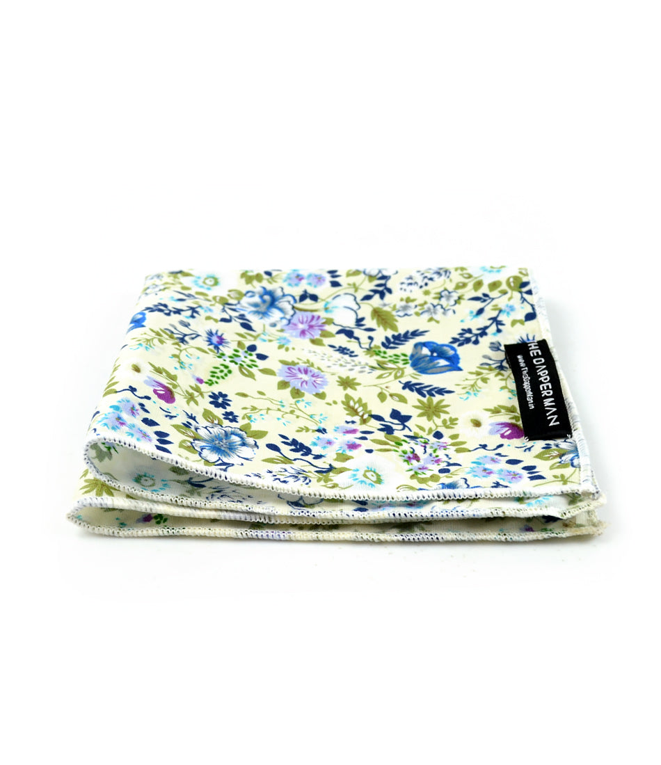 the dapper man - Irish Crème Floral Pocket Square
