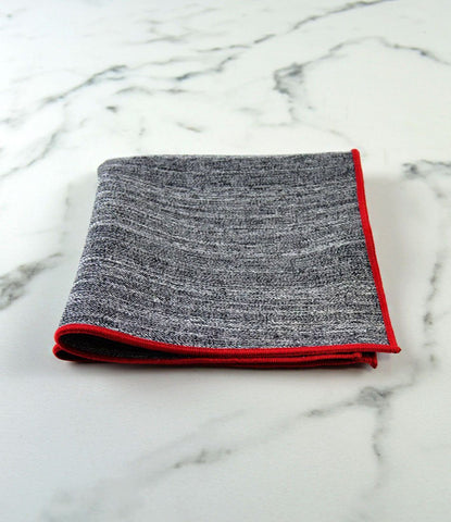 Brushed Grey Pocket Square - The Dapper Man