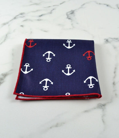 Blue Nautical Pocket Square - The Dapper Man