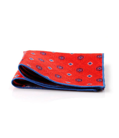 classic Red Pocket Square