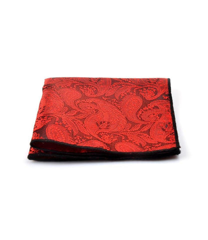 Red Paisley Pocket Square - The Dapper Man