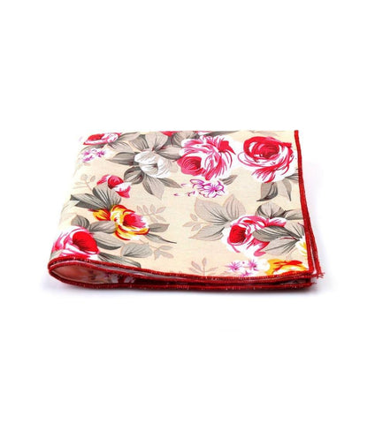 Fawn Floral Pocket Square - The Dapper Man