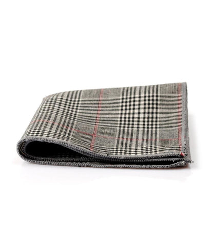 Classic Grey Plaided Pocket Square