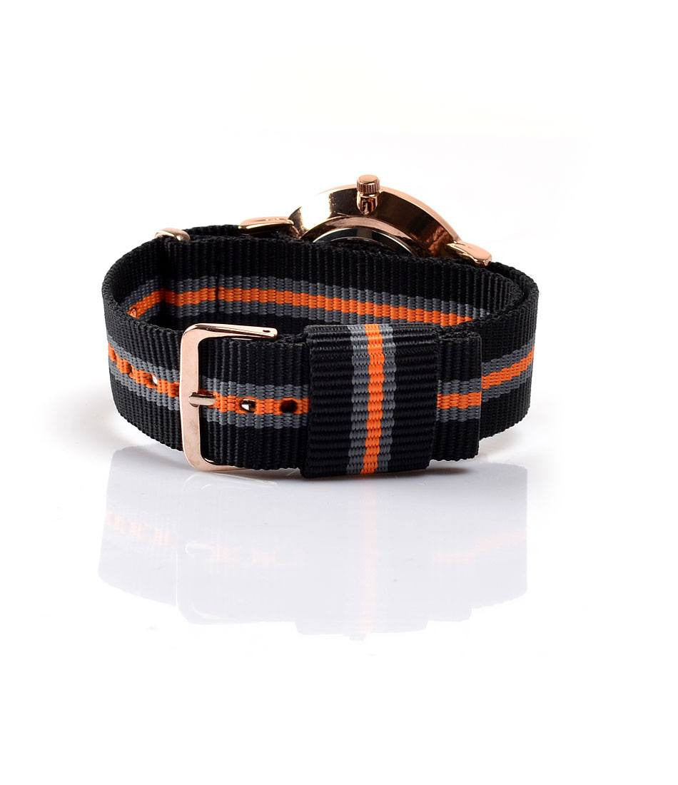 New York NATO - Black Orange & Grey - The Dapper Man