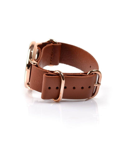 NATO Strap - Leather Tan