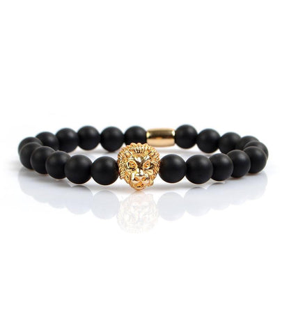 Agate & Golden Lion Charm Bracelet I - The Dapper Man