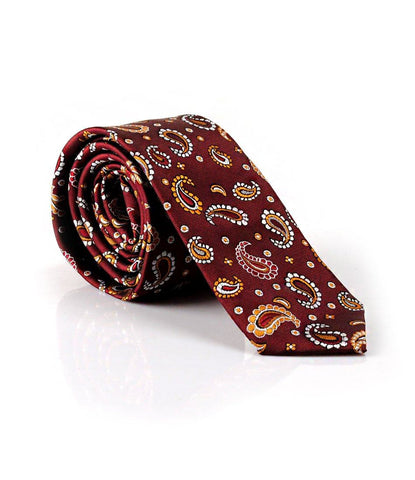 Maroon Paisley Neck Tie - The Dapper Man