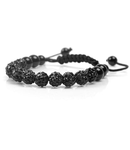 The All Black Resin Pearl Charm Bracelet - The Dapper Man
