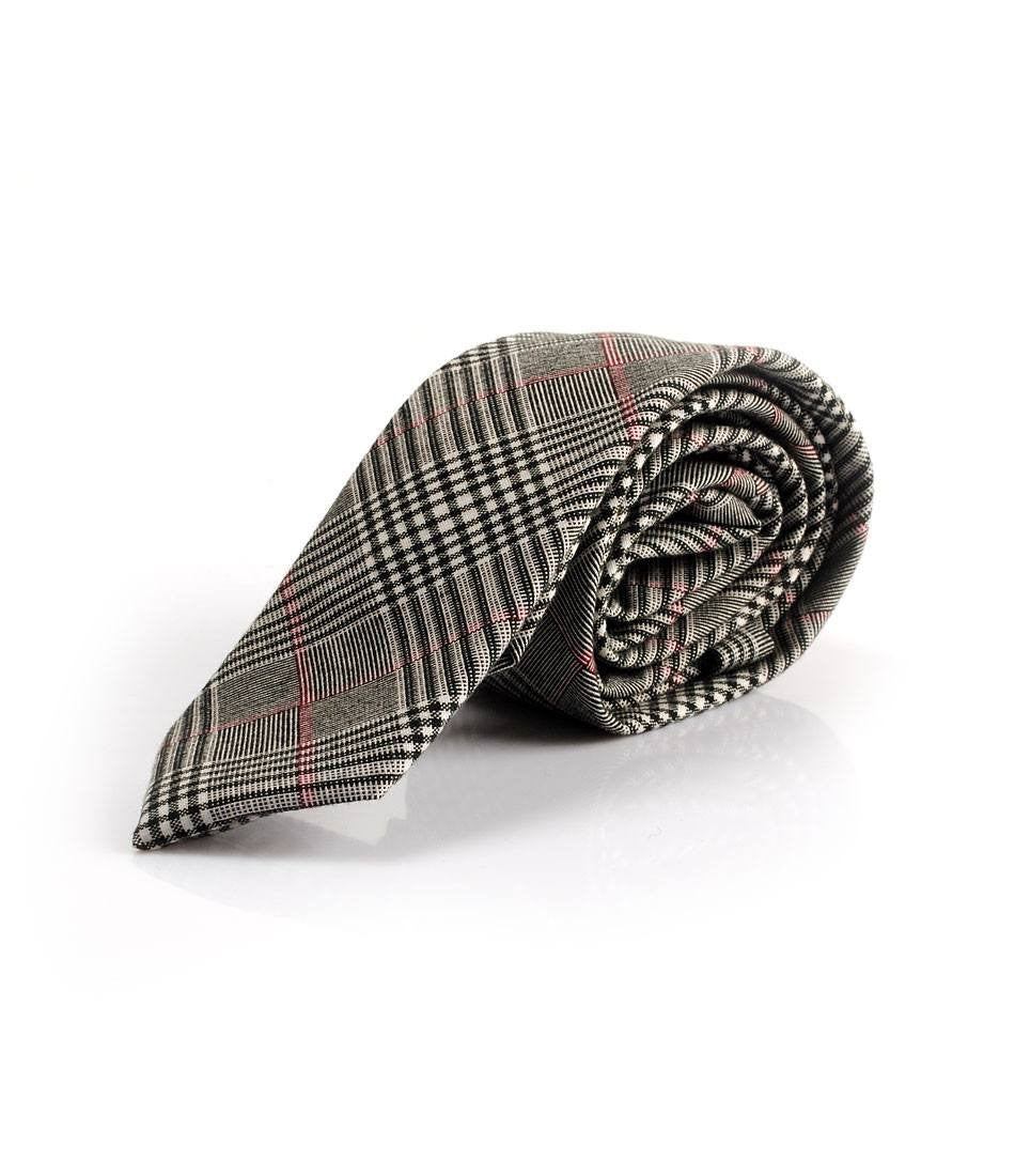 Grey Tartan Plaided Neck Tie - The Dapper Man