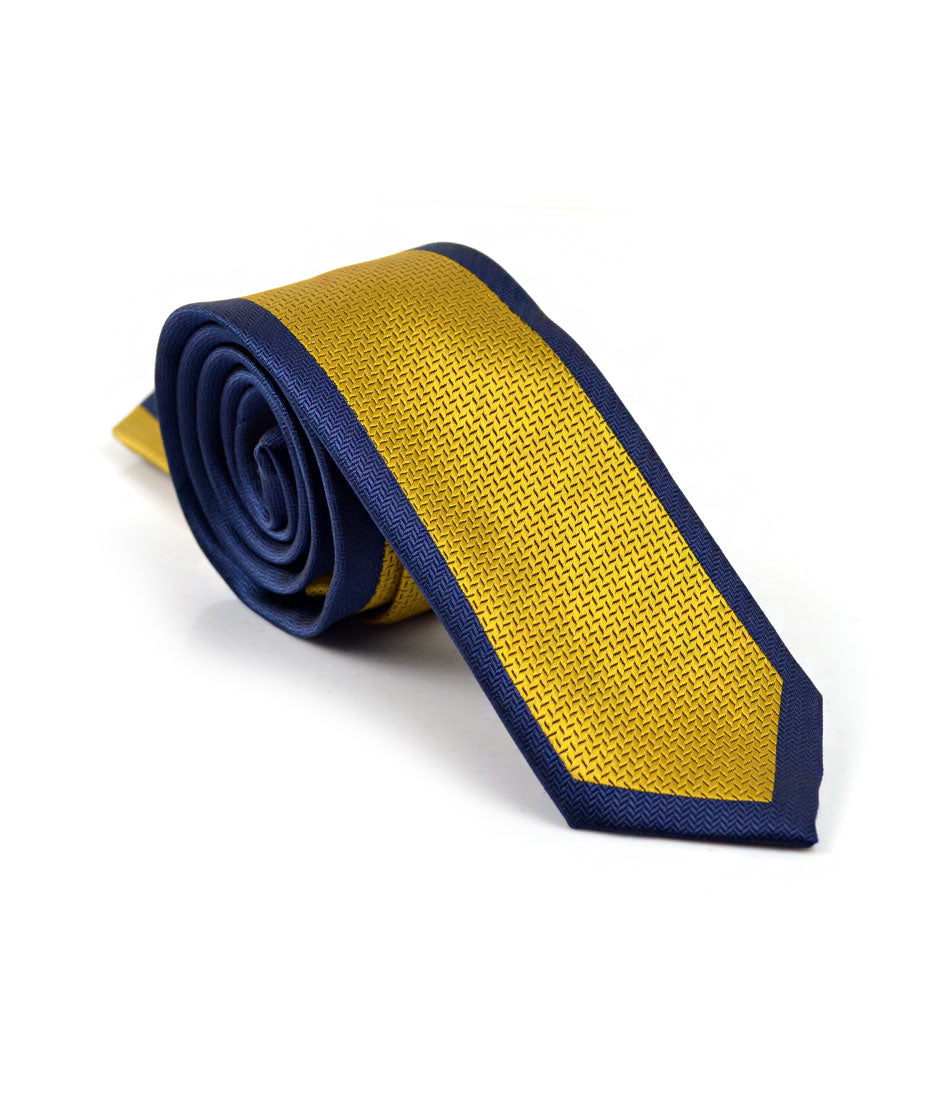 Navy & Gold Classique Neck Tie - The Dapper Man
