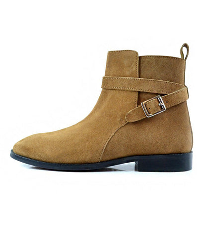 Tan Suede Jodhpur Boot - The Dapper Man