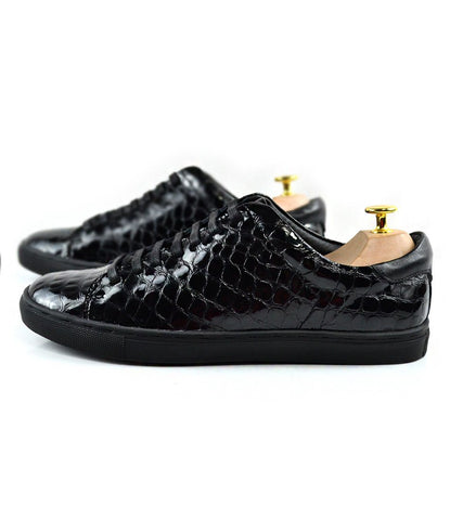 Pelle Santino - Patent Croco Leather Low-top Sneakers
