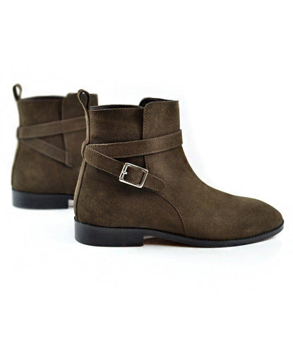 Pelle Santino - Brown Suede Jodhpur Boot