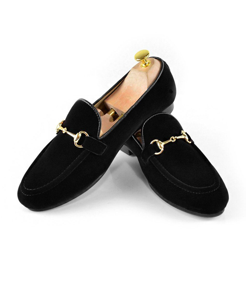 Black Velvet Bit Slippers - The Dapper Man