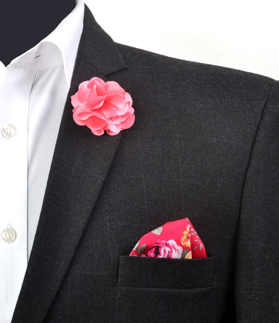 Pink Petals Flower Lapel Pin - Big - The Dapper Man
