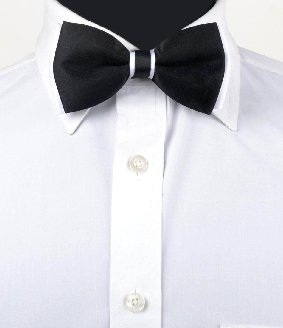 Black & White Dapper Bow Tie - The Dapper Man
